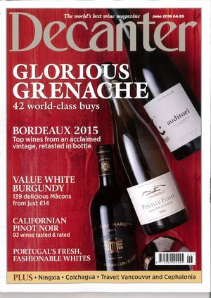 Decanter - June 2018 - The world's best Grenache buys