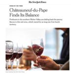 New York Times : Châteauneuf-du-Pape finds its balance