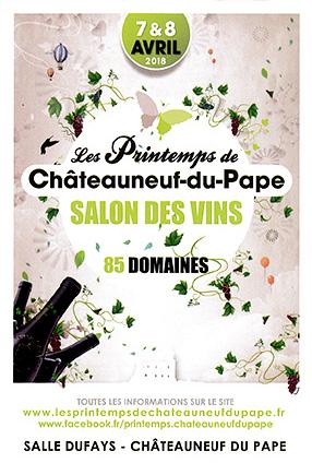 7 & 8 avril 2018 Les Printemps de Châteauneuf-du-Pape