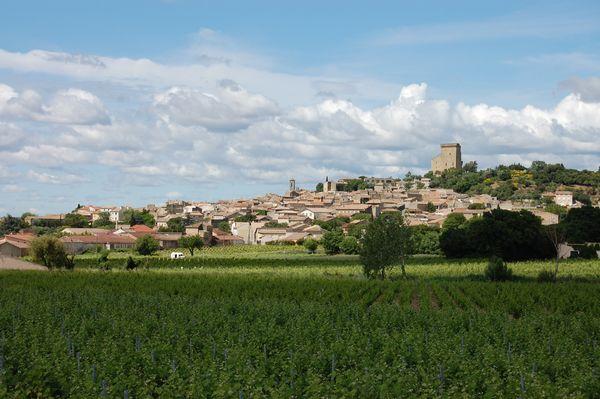 Châteauneuf-du-Pape, vue sur le village - juin 2016