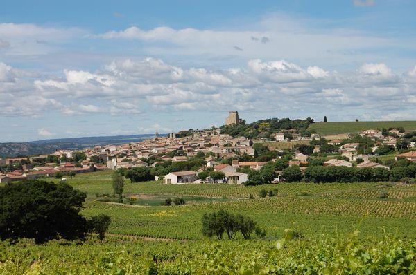 Châteauneuf-du-Pape, vue générale - juin 2016