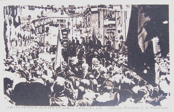 FETE DES VINS 1938 - Visite du Président