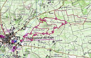 Le sentier viticole aoc ch teauneuf du pape - Office de tourisme chateauneuf du pape ...