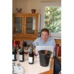 L'américain Jeff Leve déguste à Châteauneuf-du-Pape